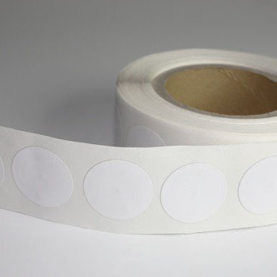 White Round White NFC Sticker NTAG213/NTAG216 Chip Ø 21 mm