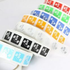 Mixed-Colours Square Printed NFC Sticker NTAG213 Chip 21*21 mm