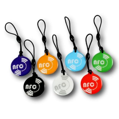 Mixed-Colours Round Printed NFC Epoxy NTAG213 Chip Ø 25 mm