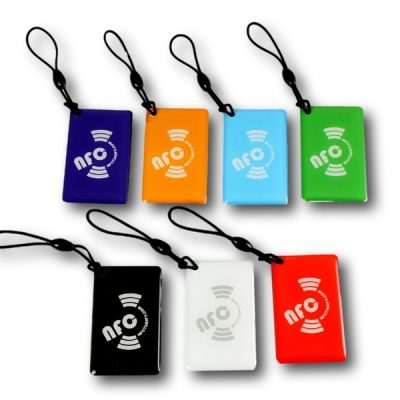 Mixed-Colours Rectangle Printed NFC Epoxy NTAG213 Chip 30*50 mm