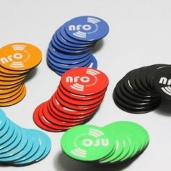 6 x Mixed-Colours Round Printed-Anti-Metal NFC Removable Magnetic NTAG213 Chip Ø 25 mm