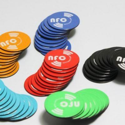 6 X NFC magnetisch Tags | NXP Chip NTAG213 | 144 Byte