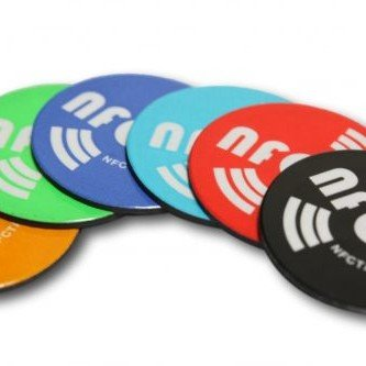 Mixed-Colours Round Printed-Anti-Metal NFC Magnetic NTAG213 Chip Ø 25 mm