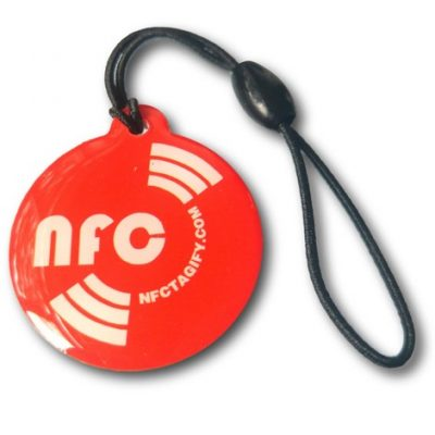 Red Round Printed NFC Epoxy NTAG213 Chip Ø 25 mm