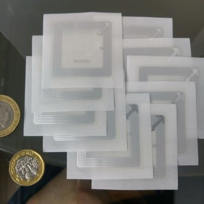 Transparent Square Clear NFC Sticker NTAG213 Chip 40*40 mm