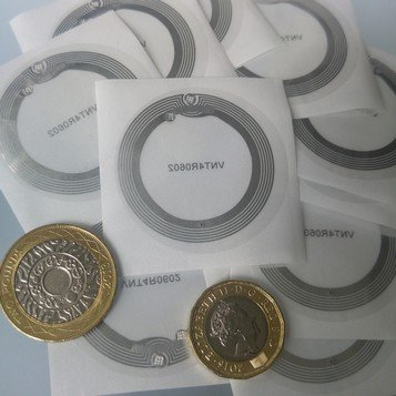 Transparent Round Clear NFC Sticker NTAG213 Chip Ø 40 mm 4