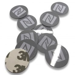 Gray Round PVC NFC Sticker NTAG213 Chip Ø 21 mm