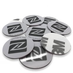 White Round PVC NFC Sticker NTAG213 Chip Ø 21 mm