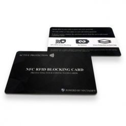 RFID NFC Blocking Card | Contactless Cards Protection | No Batteries Required | Anti Theft Secure Protector for Credit/Debit/ID/Oyster Cards